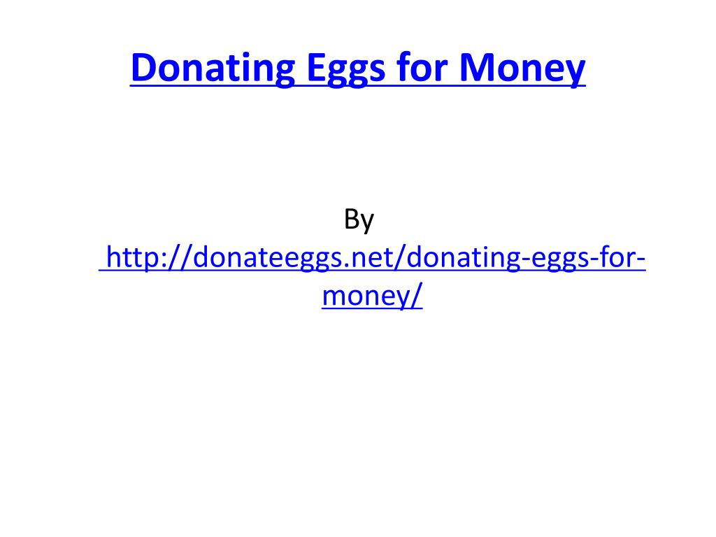 donating eggs for money l.