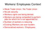 workers employees context