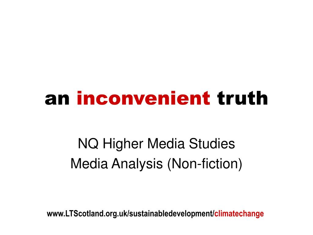 an inconvenient truth l.