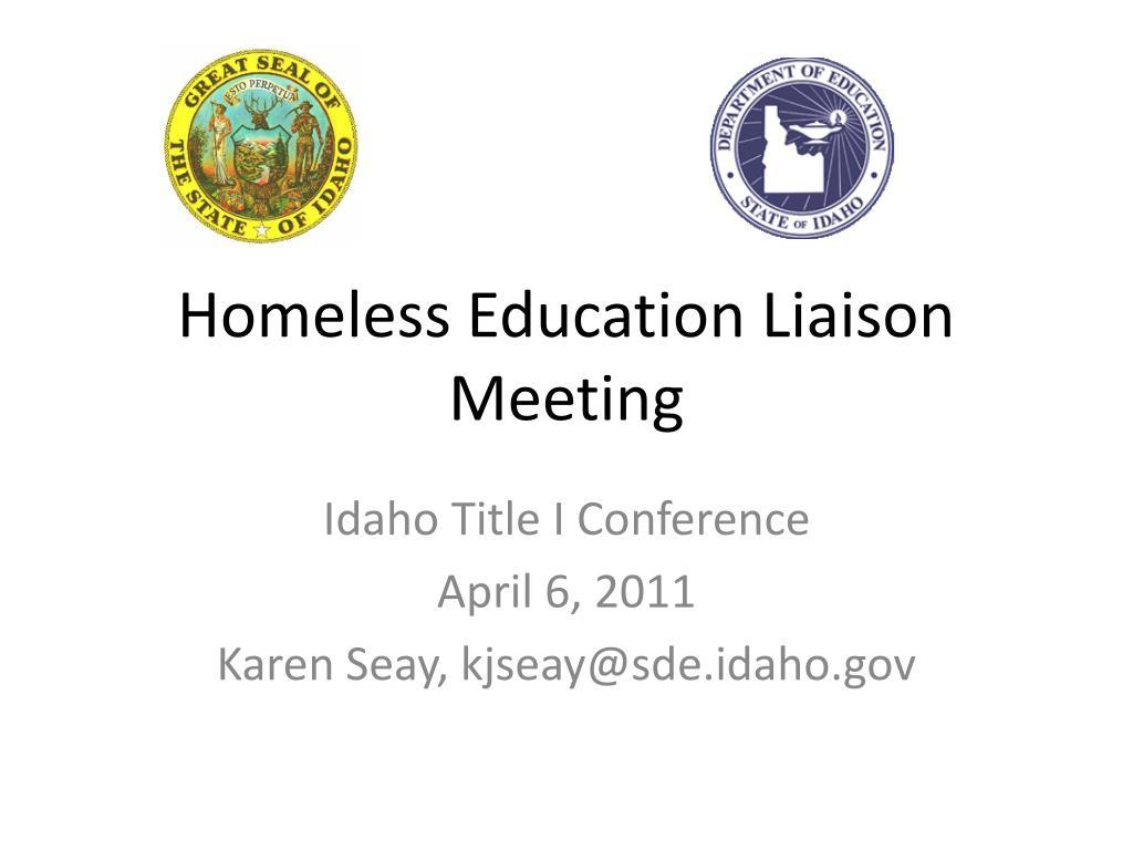 homeless education liaison meeting l.