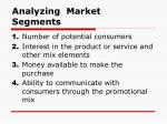 analyzing market segments