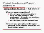 product development project element 4