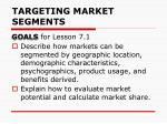 targeting market segments