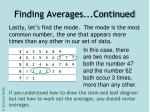 finding averages continued9