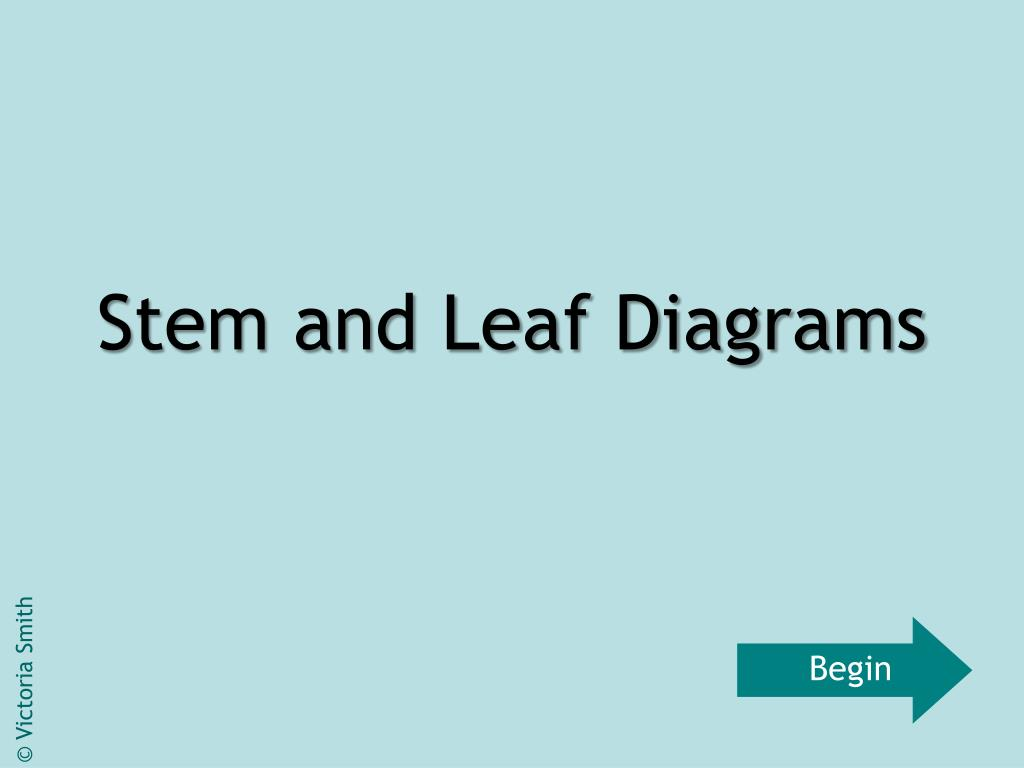 stem and leaf diagrams l.