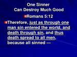 one sinner can destroy much good6