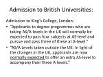 admission to british universities