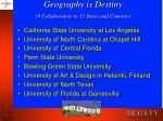 geography is destiny 19 collaborators in 15 states and countries