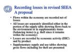 recording losses in revised seea a proposal24
