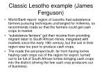 classic lesotho example james ferguson