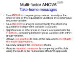 multi factor anova take home messages