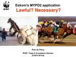 eskom s mypd2 application lawful necessary