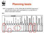 planning basis