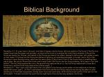 biblical background