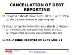 cancellation of debt reporting