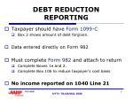 debt reduction reporting