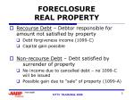 foreclosure real property