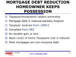 mortgage debt reduction homeowner keeps possession