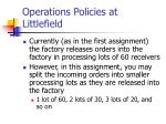 operations policies at littlefield6