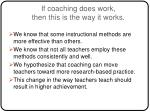 if coaching does work then this is the way it works