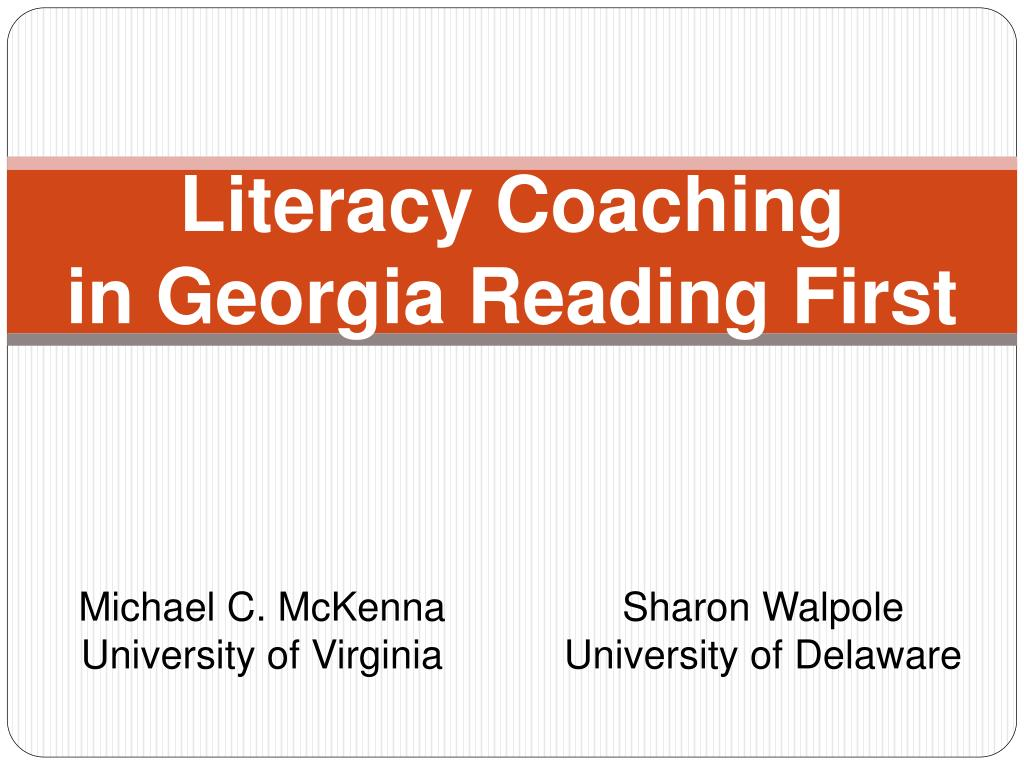 literacy coaching in georgia reading first l.