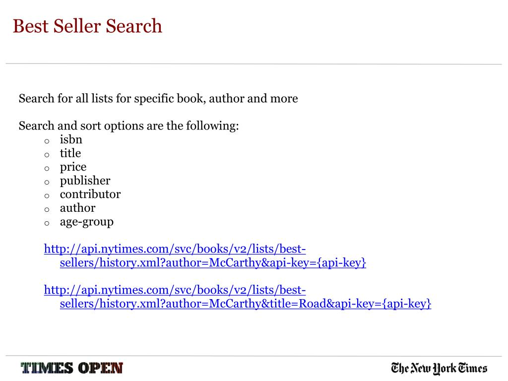 Best Seller Search