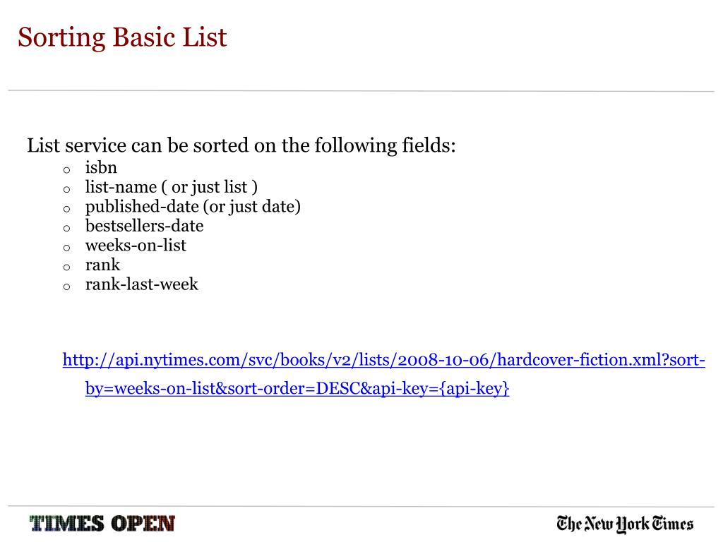 Sorting Basic List