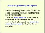 accessing methods of objects