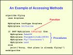an example of accessing methods