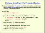attribute visibility in the protected section