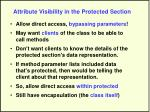 attribute visibility in the protected section27