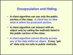 encapsulation and hiding