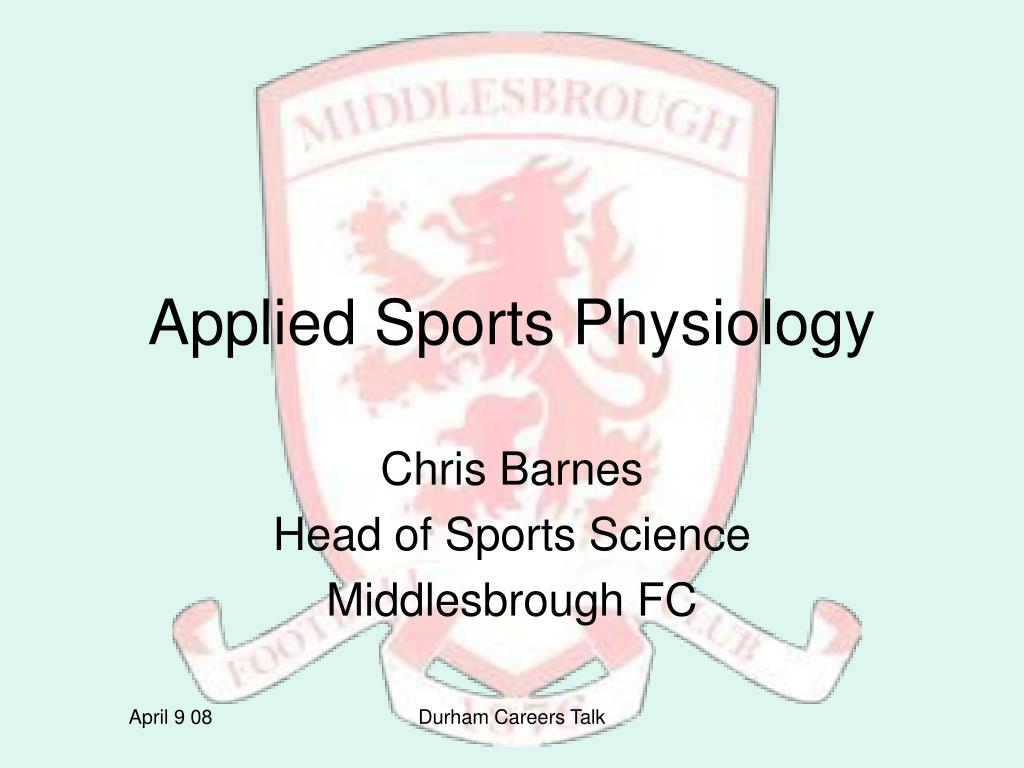 applied sports physiology l.