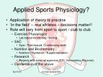 applied sports physiology2