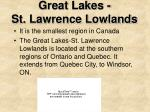 great lakes st lawrence lowlands