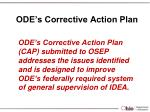 ode s corrective action plan