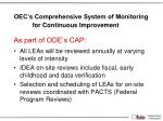 oec s comprehensive system of monitoring for continuous improvement
