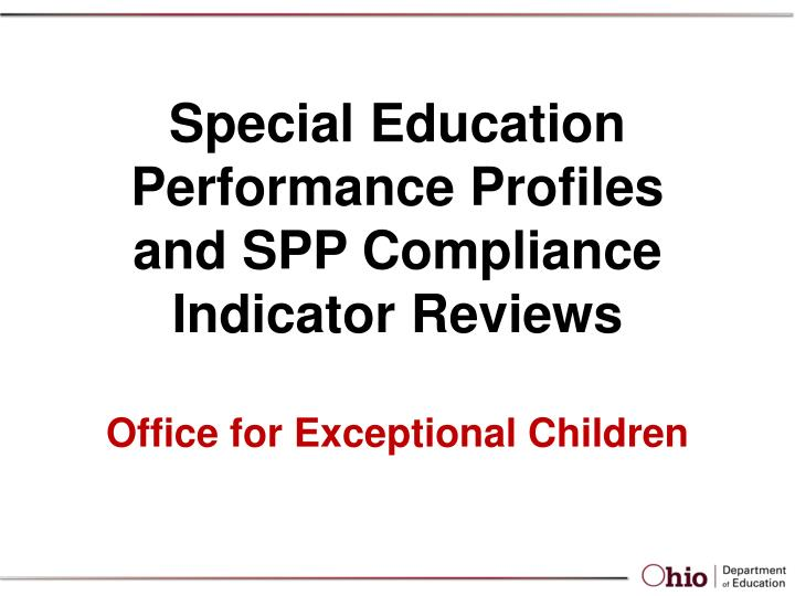 office for exceptional children n.