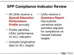 spp compliance indicator review1