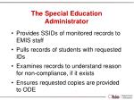 the special education administrator