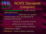 ncate standards categories