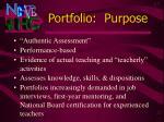 portfolio purpose