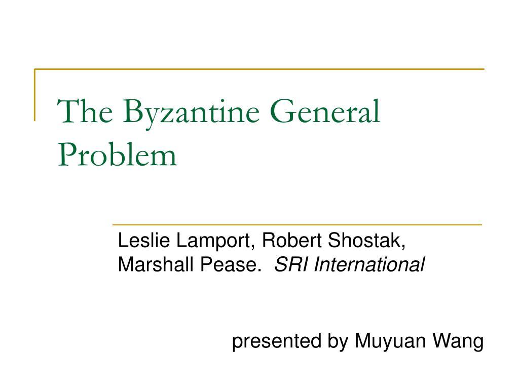the byzantine general problem l.
