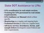 state dot assistance to lpas