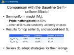 comparison with the baseline semi uniform model