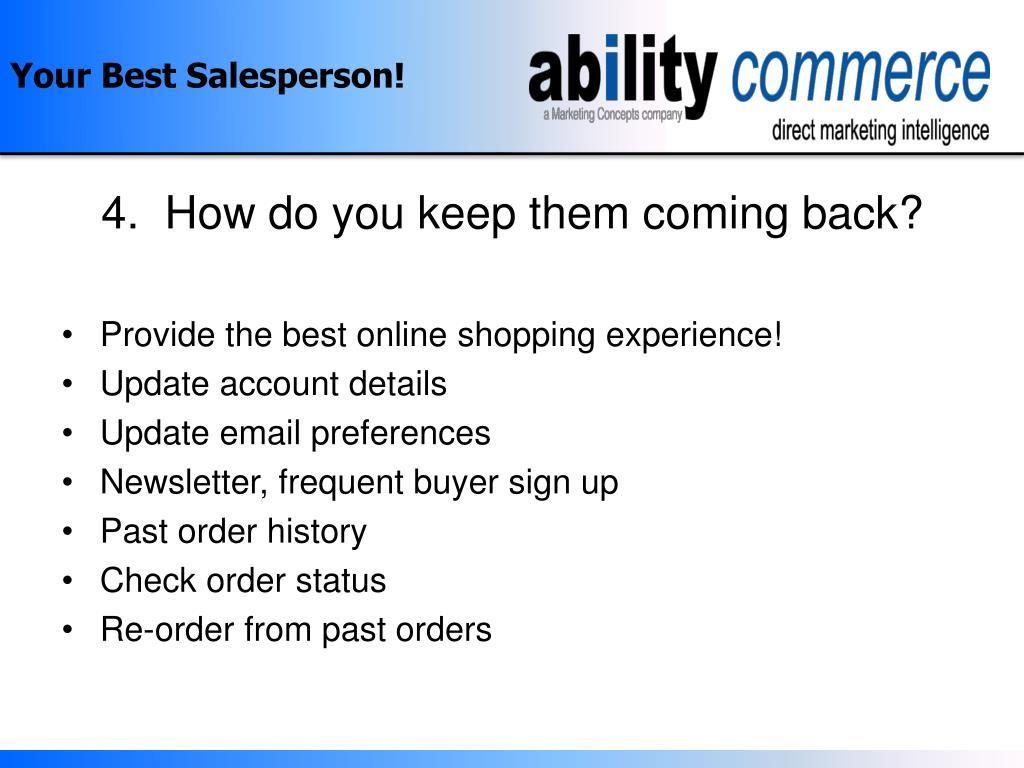 Your Best Salesperson!