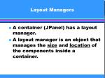 layout managers