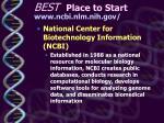 best place to start www ncbi nlm nih gov