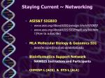 staying current networking