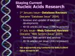 staying current nucleic acids research